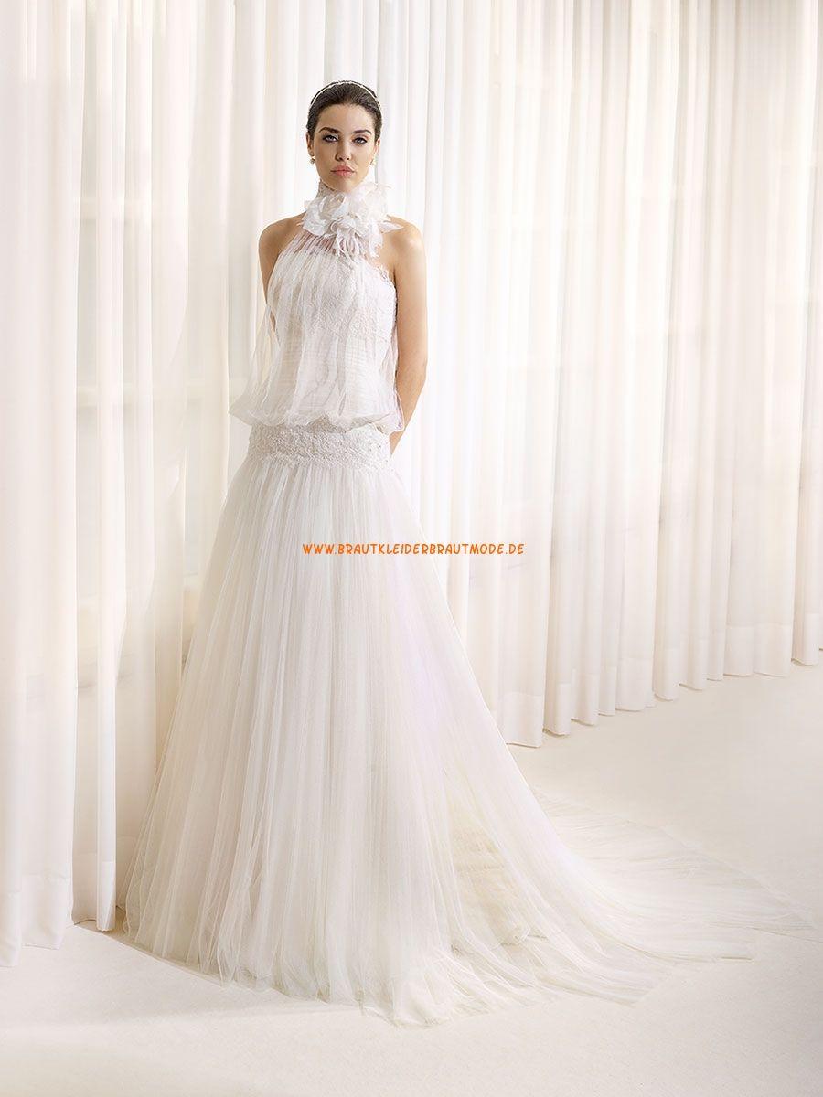 Außergewöhnliche Bodenlange Hochzeitskleider aus Tüll | Wedding ...