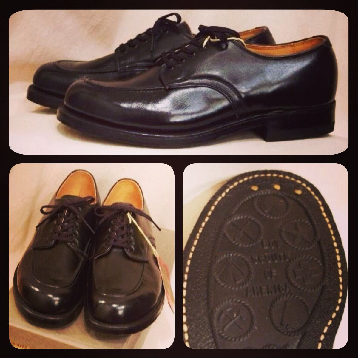 Late 50's Boy Scout Oxford Shoes Brown