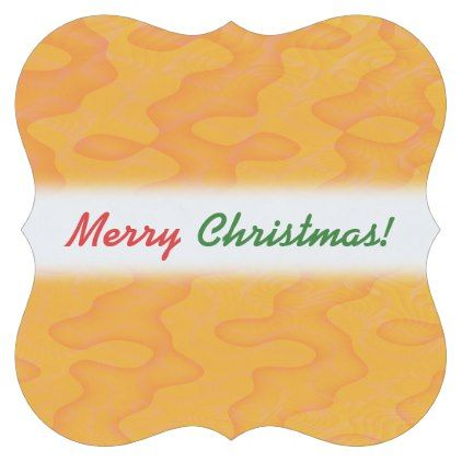 """Merry Christmas!""; Orange Blob or Splotch Pattern Paper Coaster - Xmas ChristmasEve Christmas Eve Christmas merry xmas family kids gifts holidays Santa"