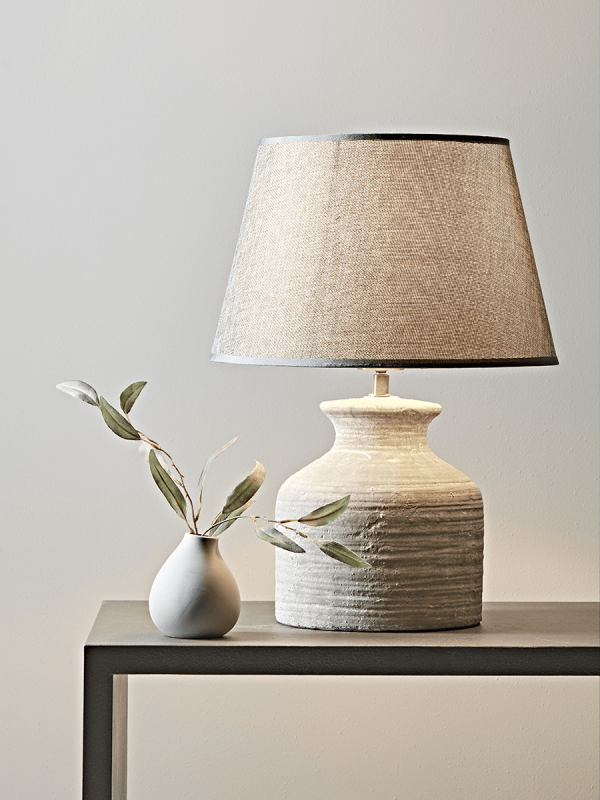 Concrete Effect Bedside Lamp In 2019 Bedside Lamp Table Lamps