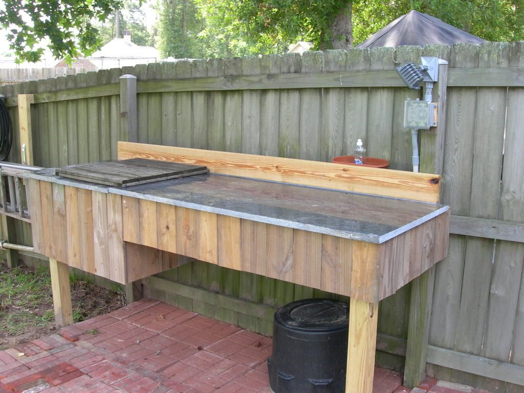 Fish cleaning table google search kitchen pinterest for Fish cleaning table bass pro