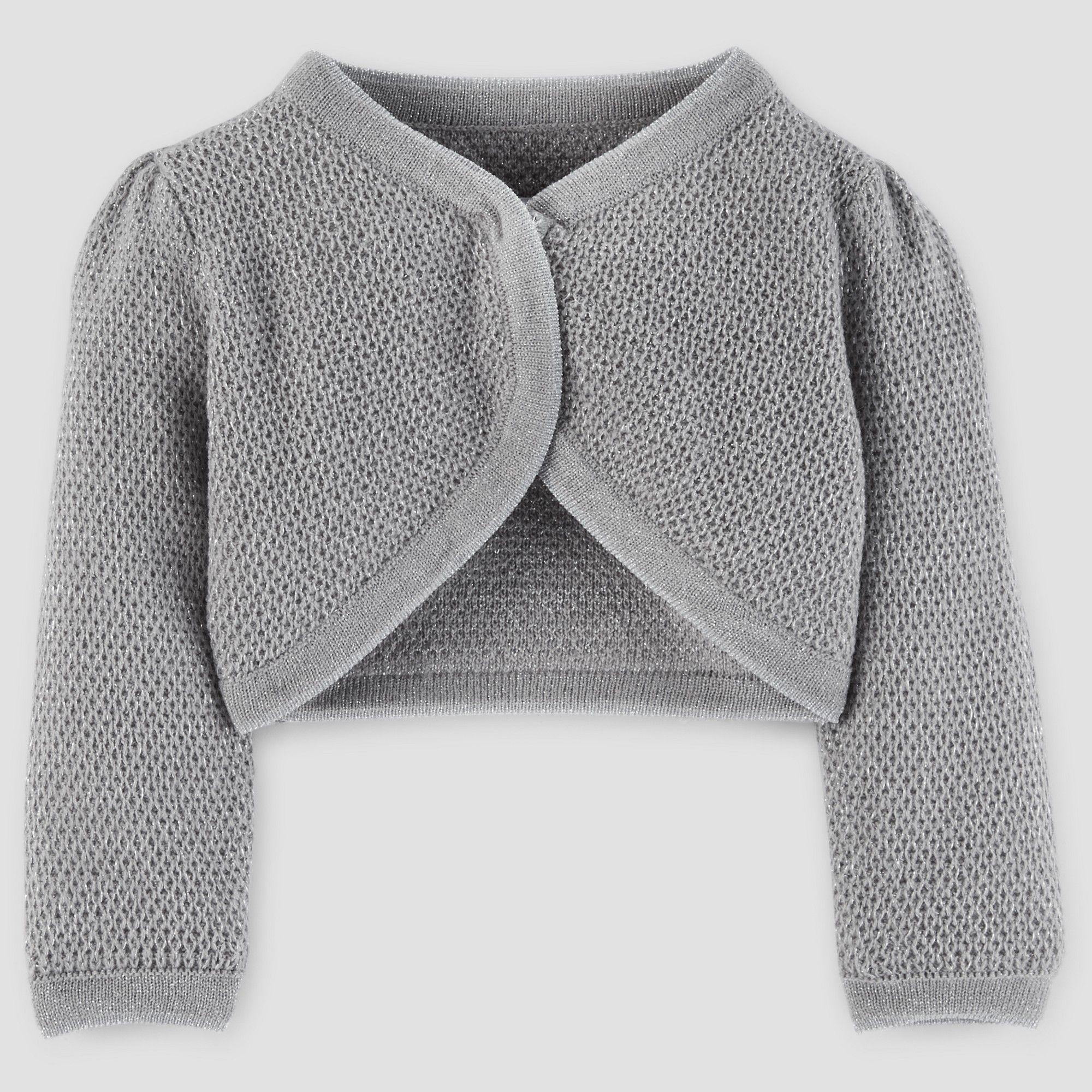 bba35f80ce3 Toddler Girls  Cardigan Sweater - Just One You Made by Carter s Silver  Metallic 5T