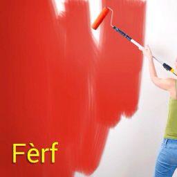Paint | Mi ta fèrf na kas - I'm painting at home! Visit: henkyspapiamento.com #papiamentu #papiamento #papiaments #aruba #bonaire #curacao #paint #painting #red #verfen #schilderen #rood #pintar #pintura #rojo #vermelha