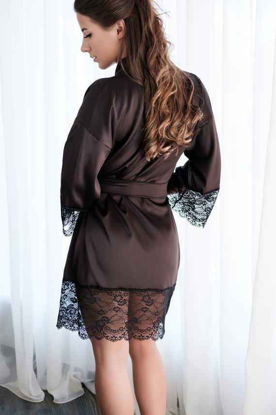09e9f95ece5 Black kimono robe