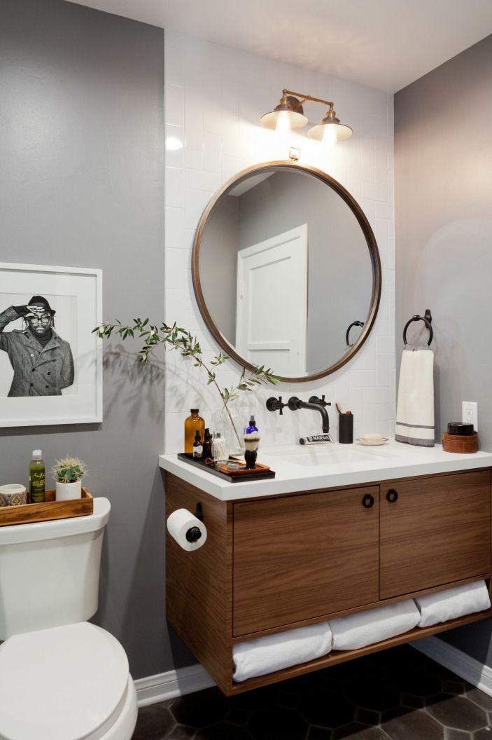 Twice The Luxury In Los Angeles Round Mirror Bathroom Bathroom