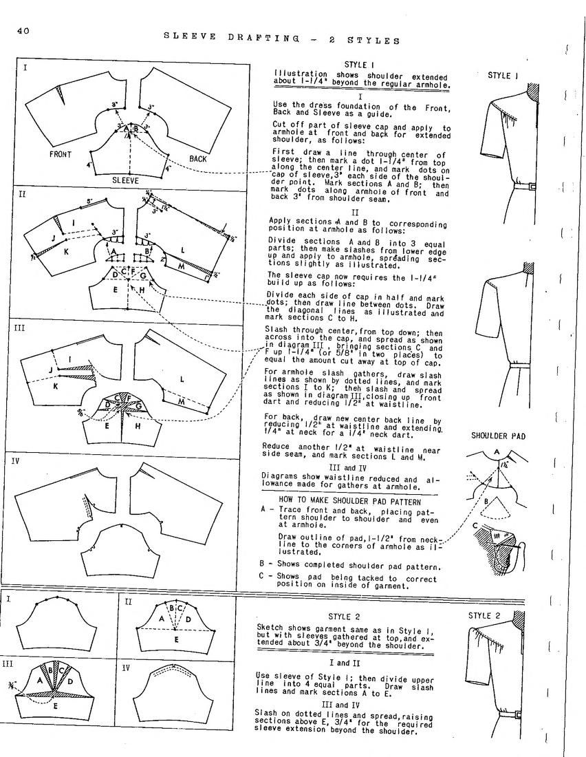 Pattern Drafting And Grading By Michael Rohr, 1... | Sleeves pattern ...
