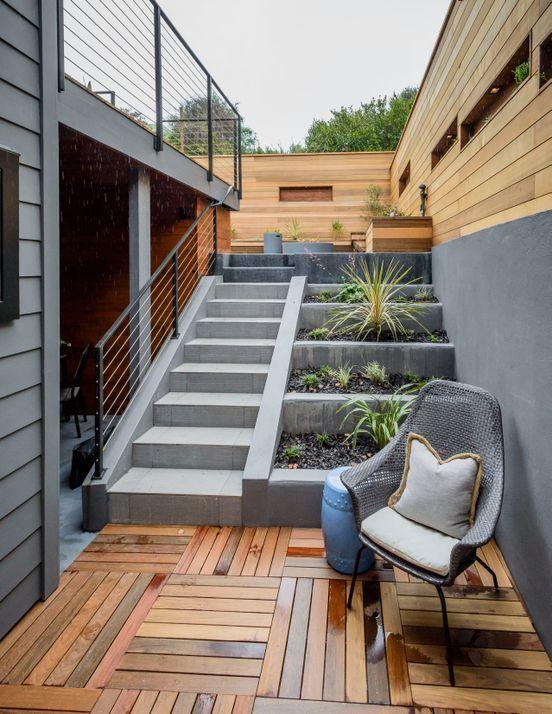 Muebles y decoraci n fornitures reblog from escaleras pinterest - Escaleras jardin ...