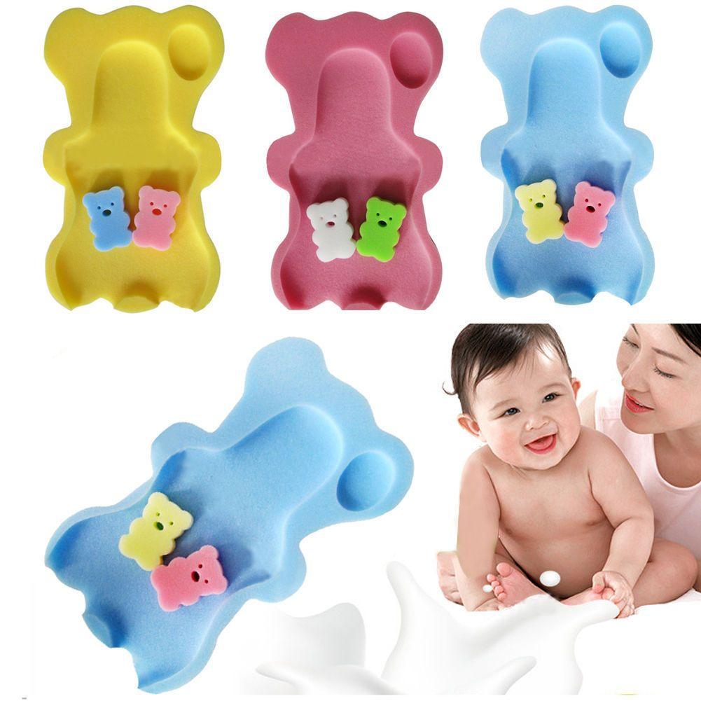 Comfortable Baby Bath Sponge Mat Non-slip Sponge Cushion Bathing ...