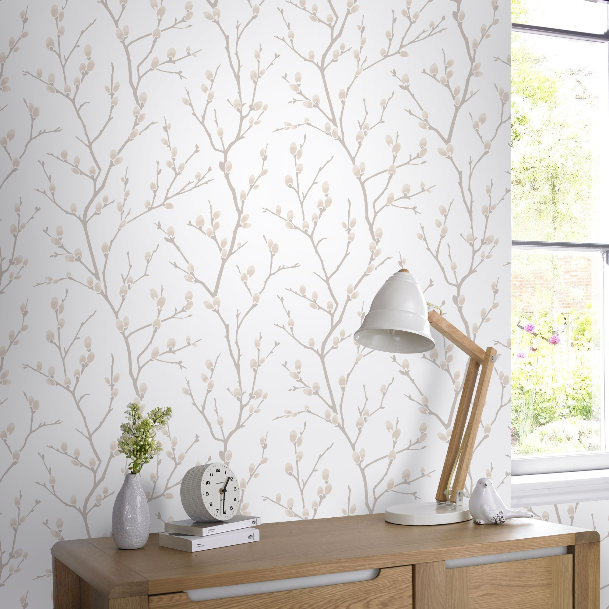 Karma Wallpaper In Natural From The Innocence Collection By Graham  # Meuble Tv Karma