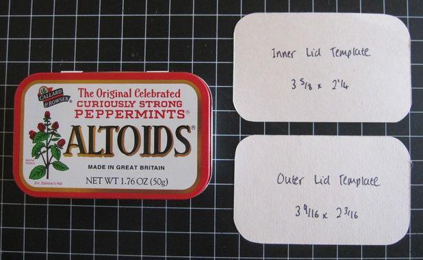 Altered Altoid Tin Album Sarahs Ink Spot Altered Tins Tin Can Crafts Tin Art