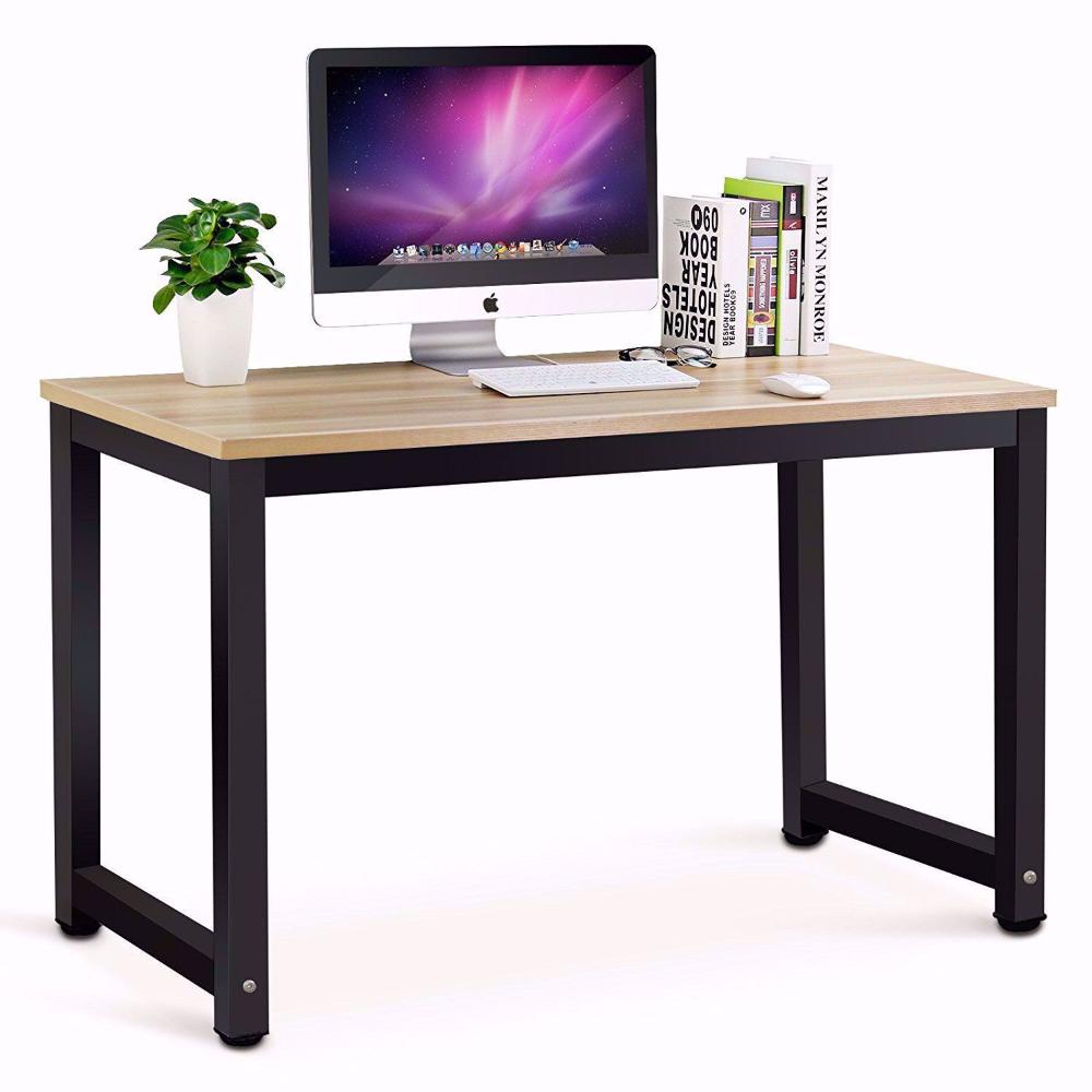 Tribesigns Modern Minimalist Style Computer Desk Home Desk Computer Desk Glassofficedes Modern Computer Desk Simple Office Desk Contemporary Computer Desk