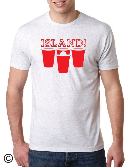 Beer pong screen printed mens tshirt next level t by