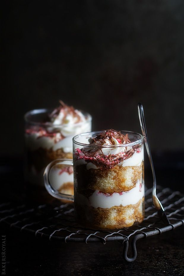 Peppermint Tiramisu Trifles via Bakers Royale