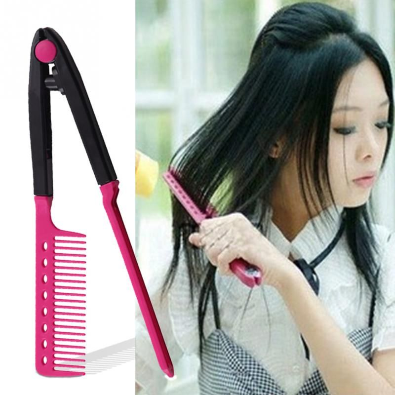 Women Ladies Curly Hair/ Straight Hair Universal Makeup V Type Clip On Style Hairdressing Comb-in Makeup Brushes & Tools from Beauty & Health on Aliexpress.com | Alibaba Group