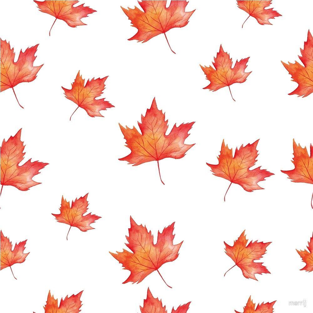 Autumn Leaves Fall Print Pattern Herbst Fashion Mode Blatter