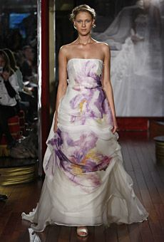 Brides: Floral Wedding Dresses   Wedding Dresses and Style   Brides.com