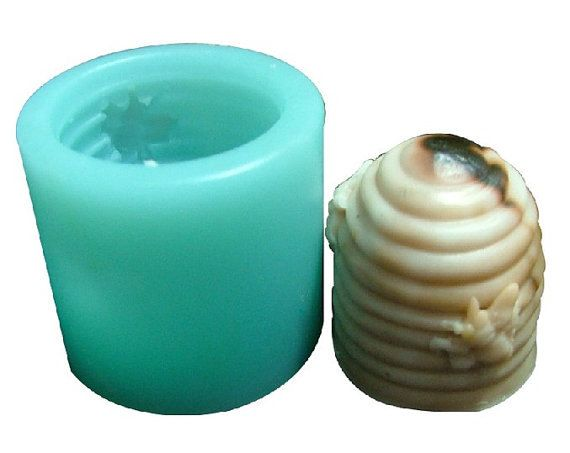 Bee Honeycomb Cylinder Candle Mold Soap Mould Flexible Silicone Handmade Mold