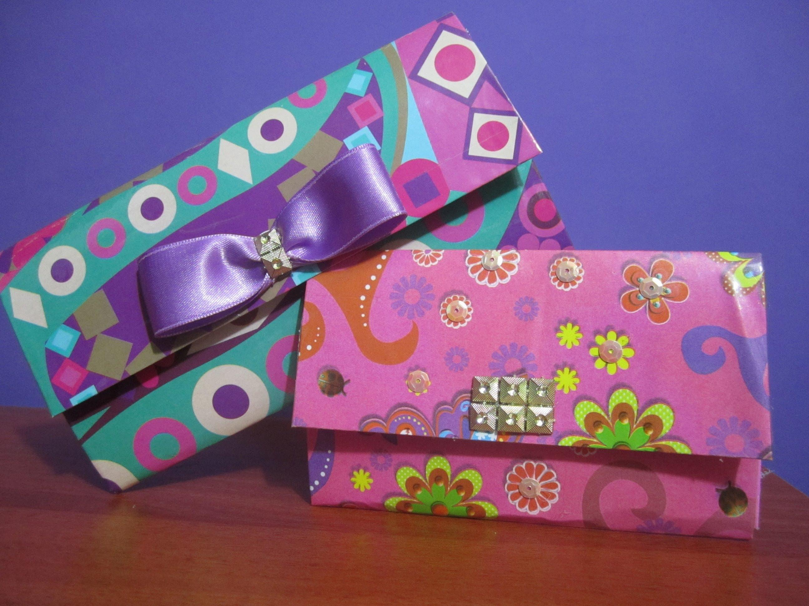 ead849f95 billetera de carton | RECICLAJE DE CARTON | DIY, Paper Crafts y ...
