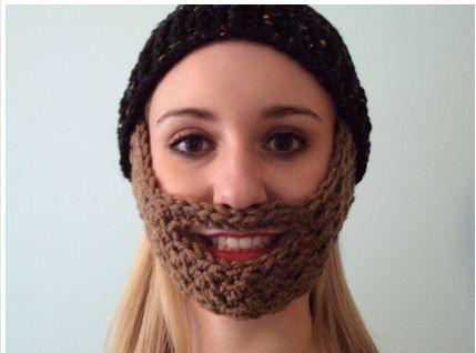 Crochet Beard Hat Pattern note: kid fch 21 st, row 9 - *dc, sc* 3 ...