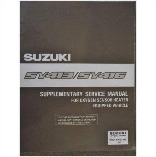 suzuki baleno sy413 sy416 service manual 1996 9950160g2018e on ebid rh pinterest com Caterpillar Engine Service Manual Kohler Engines Service Manual