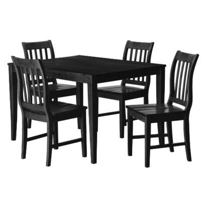 Winfield 5Piece Dining Set  Black Rating 5 Out Of 5 Stars 2 Magnificent 2 Piece Dining Room Set Decorating Design