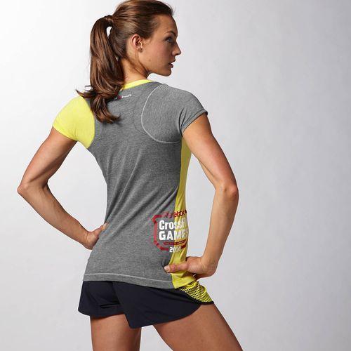c84526806 Reebok - Camiseta mezcla de tres tejidos Reebok CrossFit Games 2014 Stinger  Yellow/ Rbknav B82410