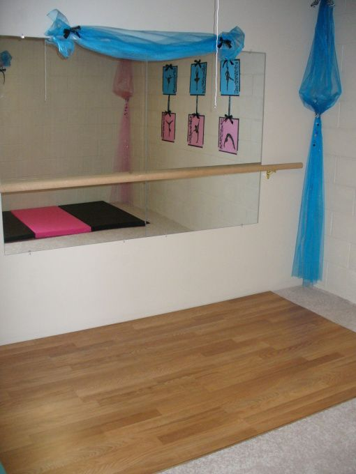 dance and gymnastic room - girls' room designs - decorating ideas
