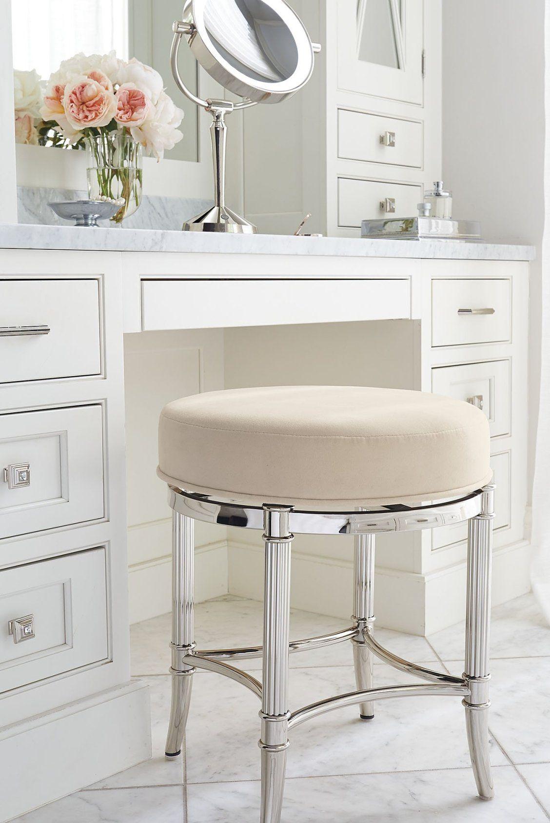 Bailey Swivel Vanity Stool Frontgate Vanity Stool Vanity Seat Vanity Chair