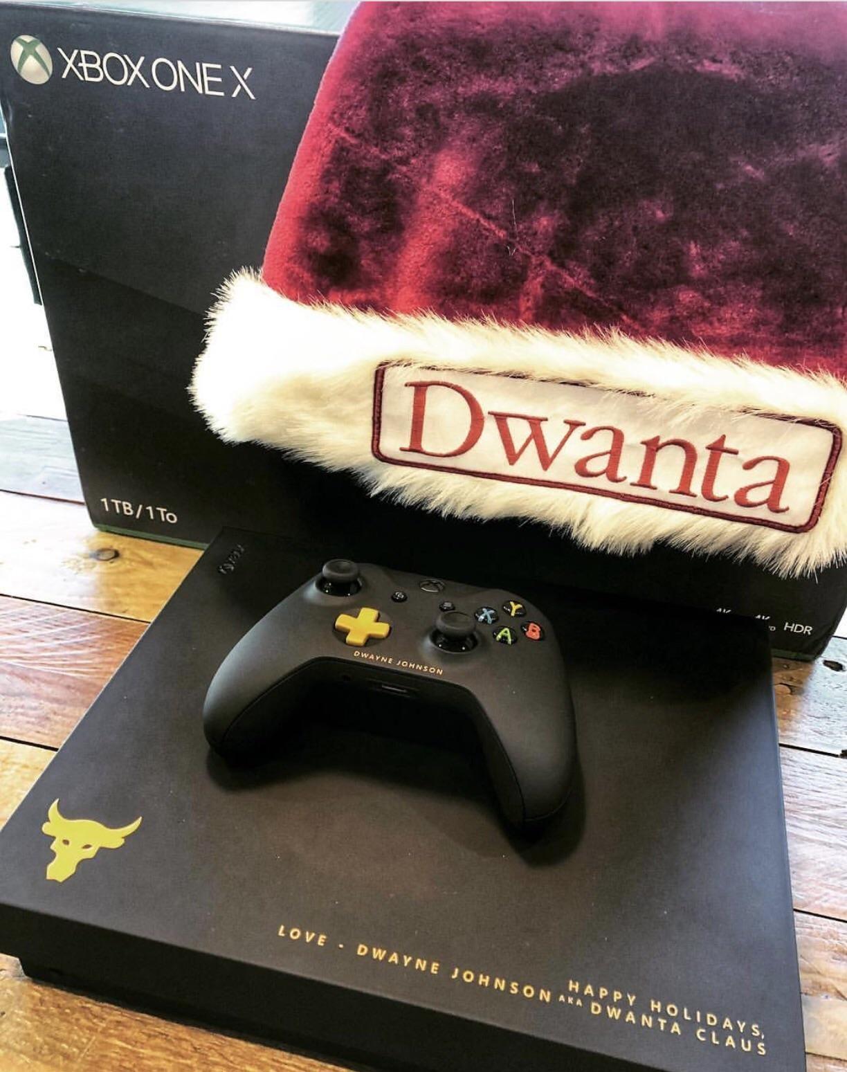 The Rock's custom XBOX ONE X Custom xbox, Xbox one, Xbox