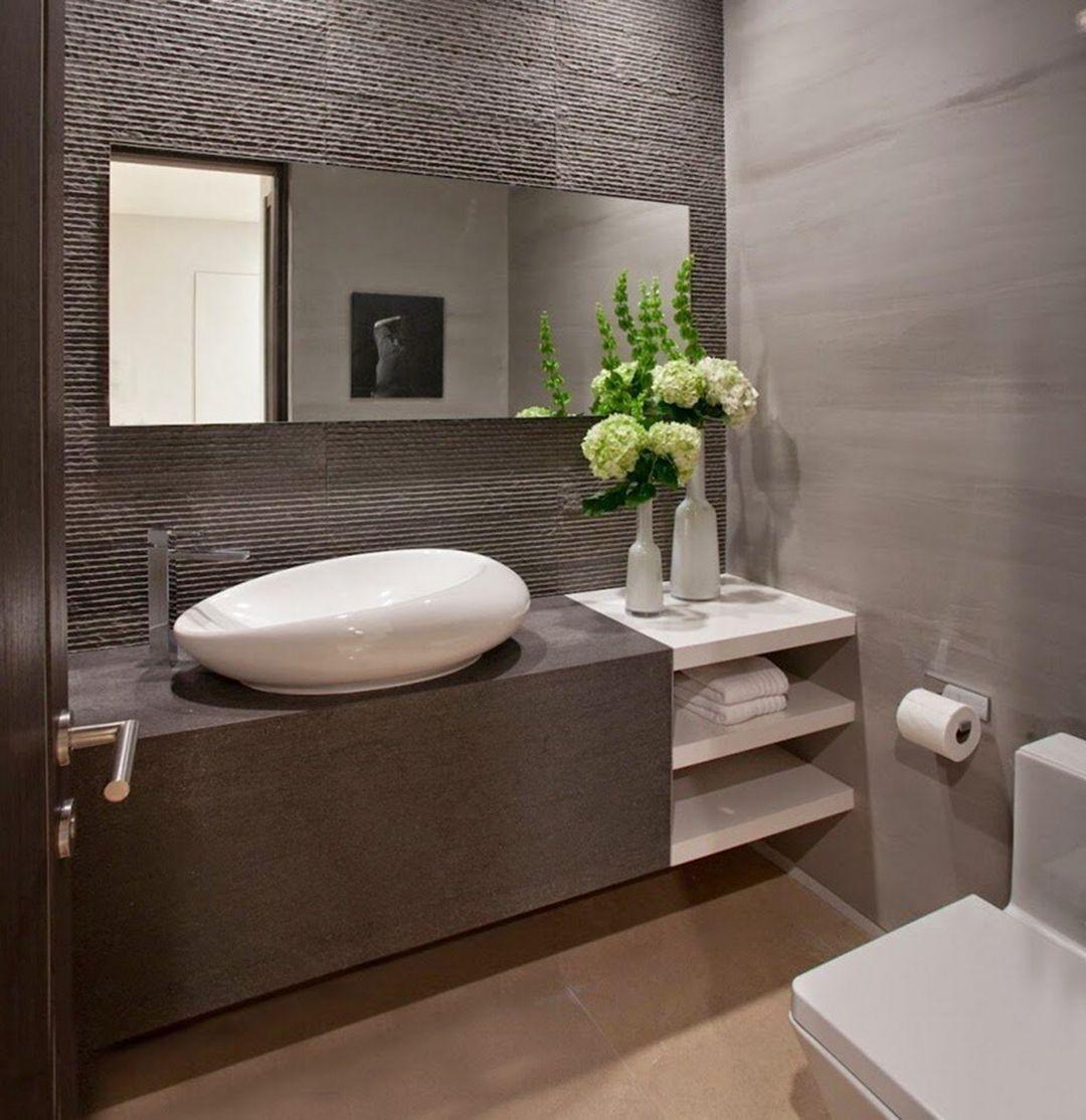 15 Stunning Small Modern Bathroom Design Ideas Bathroom Design Small Modern Modern Bathroom Design Half Bathroom Design Ideas