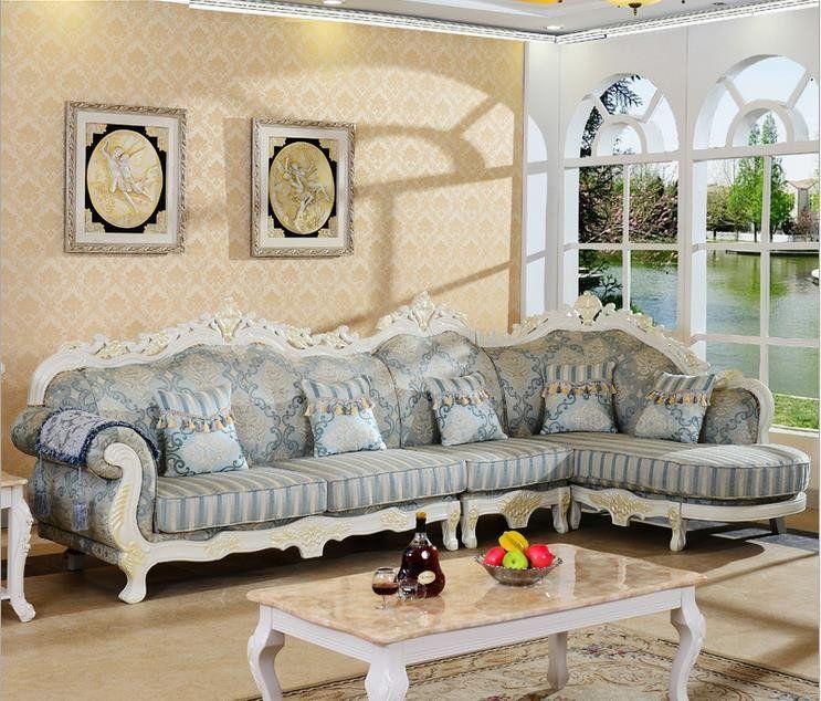 European Style Sofa Living Room Furniture Simple Detachable Royal