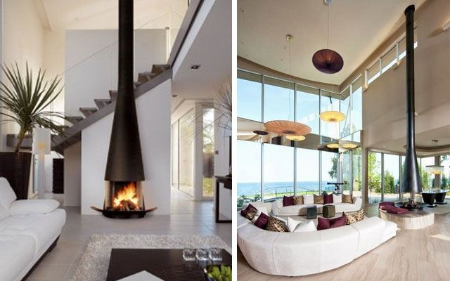 28 Ideas Para Decorar Salones Con Chimeneas Modernas De Tiro Visto - Como-decorar-un-salon-con-chimenea