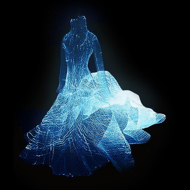 tae gon kim fibre optic dress zano controls galaxy themed
