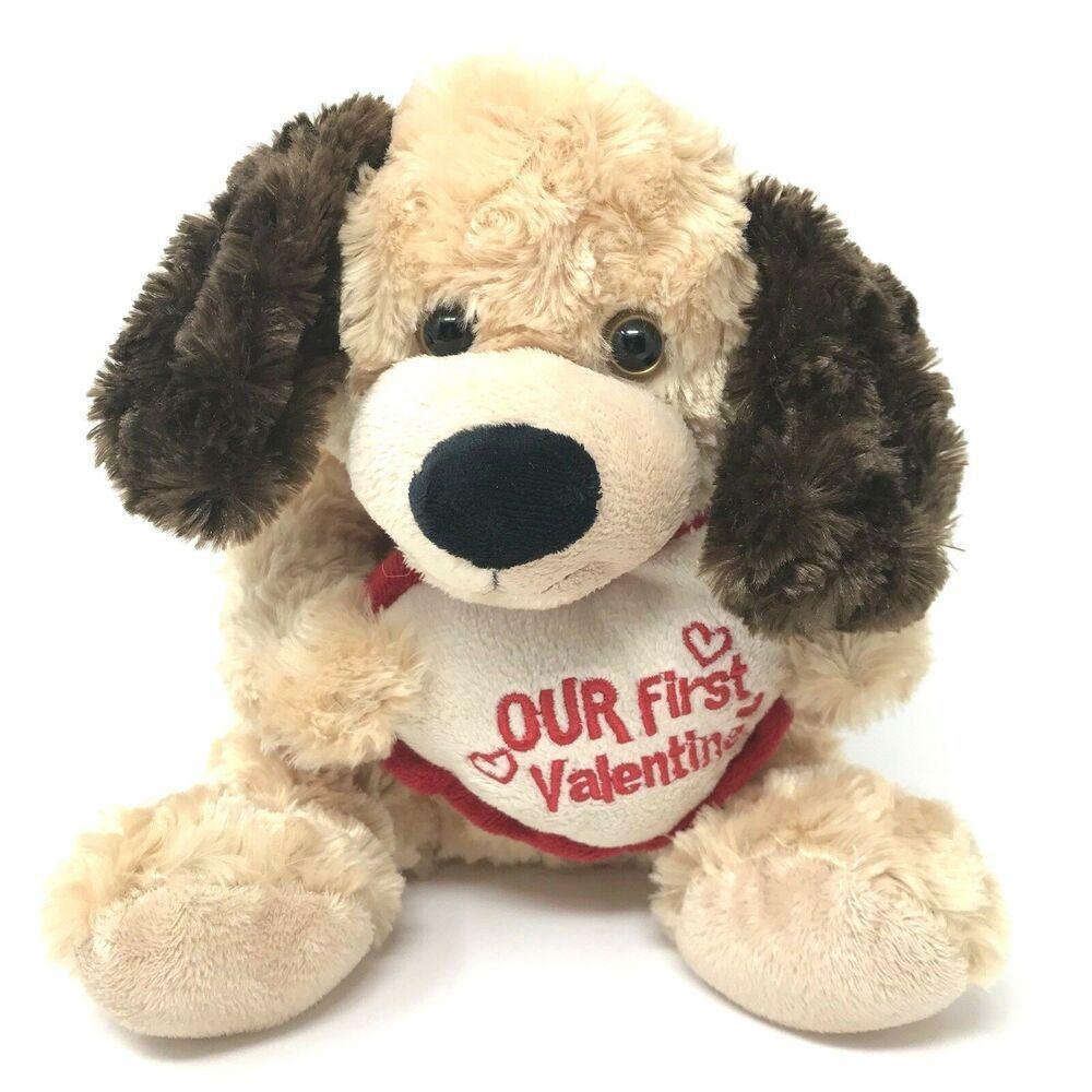 Dan Dee Our First Valentine Brown 9 Inch Plush Sitting Puppy Dog Stuffed Animal Dandeecollectorschoice Dog Stuffed Animal Teddy Bear Stuffed Animal Plush Dog [ 1000 x 1000 Pixel ]