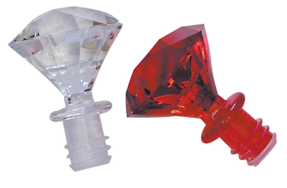 Bottle Stoppers And Corks 63503 Wine Bottle Stopper Set Of 2 Diamond Shape One Clear One Red Buy I Bottle Stoppers Wine Bottle Stoppers Wine Bottle