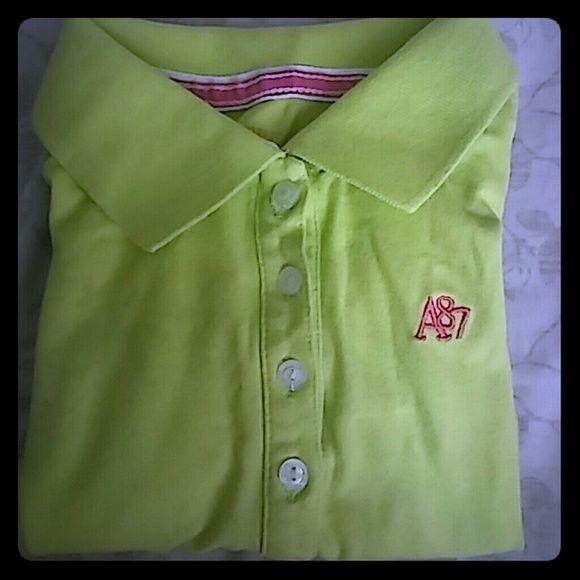 Aeropostale polo shirt Lime green aeropostale shirt sorry it looks wrinkled Aeropostale Tops Button Down Shirts