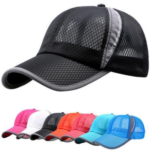 New Plain Baseball Cap Solid Color Blank Curved Visor Hat Adjustable size