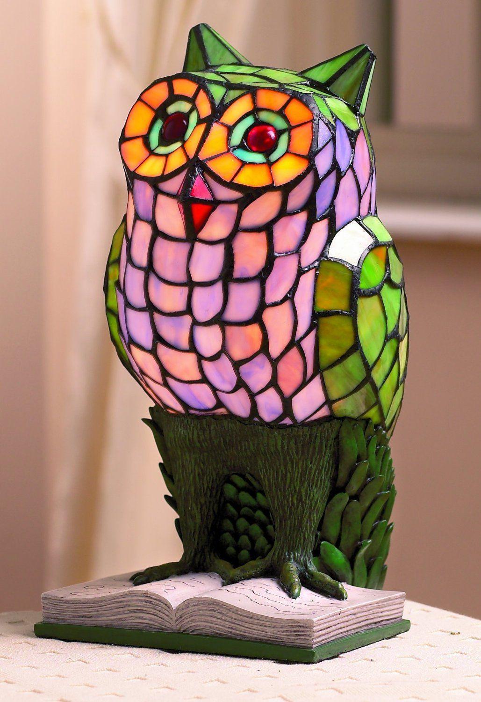 Large Owl Animal Tiffany Table Lamp: Amazon.co.uk: Lighting
