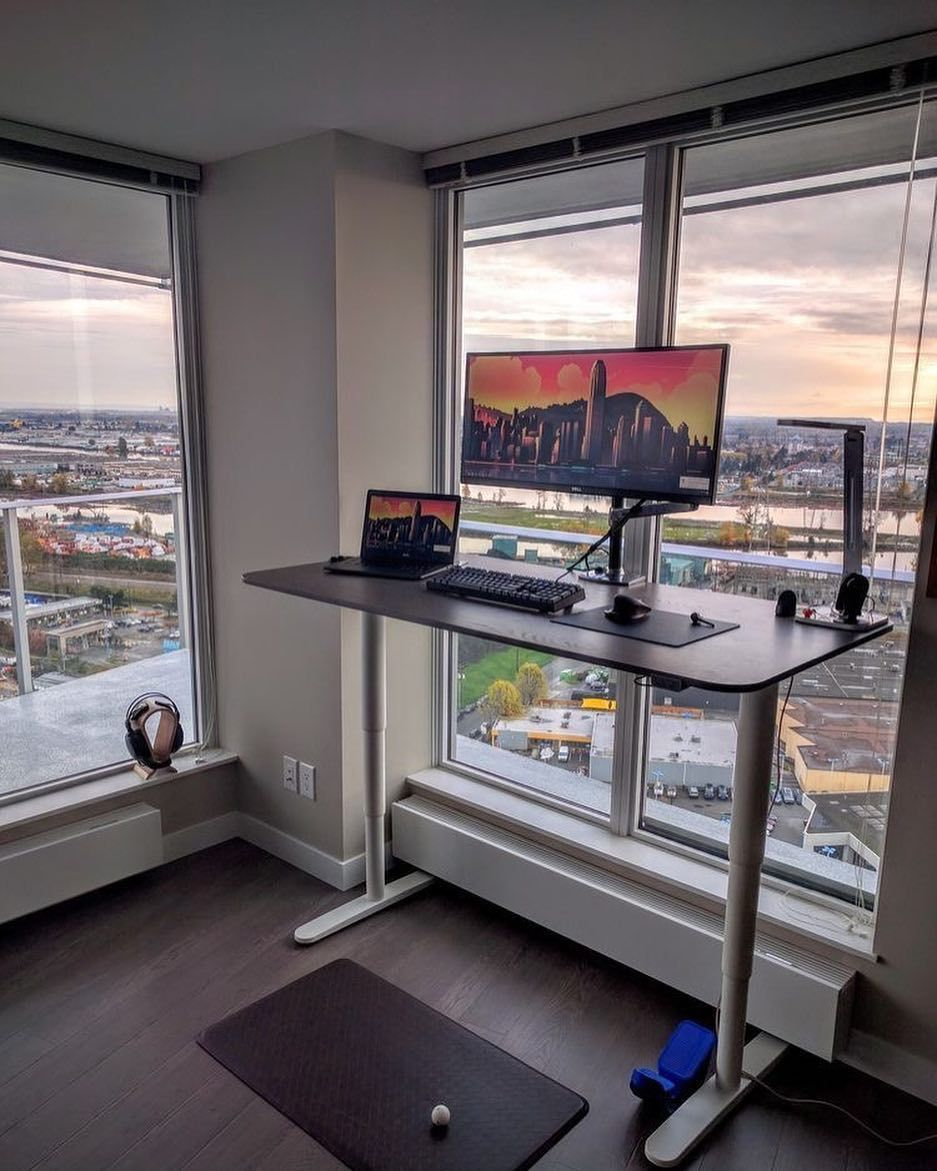 Ultrawide Standing Setup With A View. #minimalsetups (With