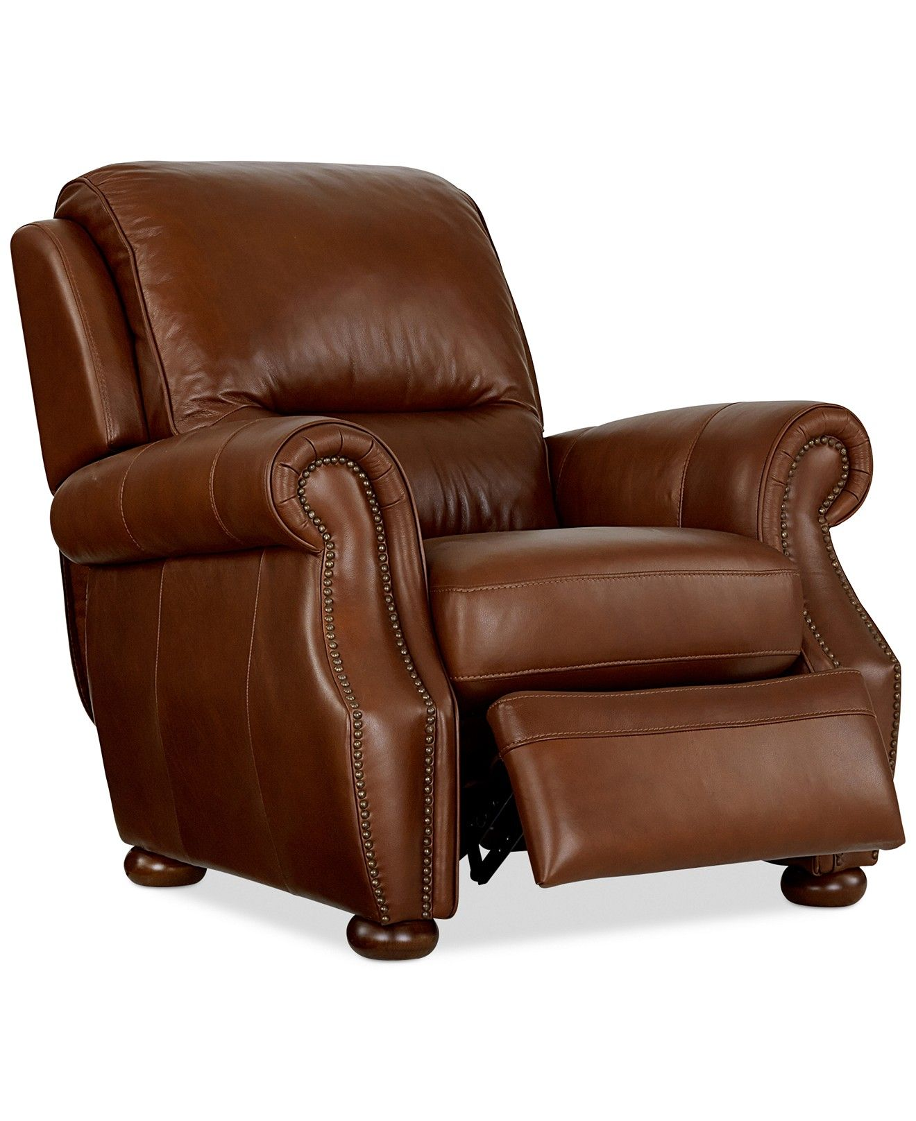 Royce leather recliner chair furniture macys
