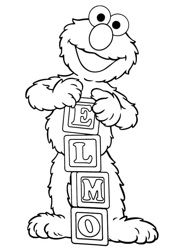 print coloring image | Elmo, Sesame streets and Birthdays