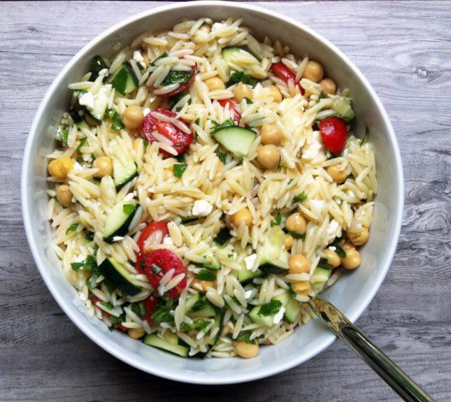 This Orzo Pasta Salad is perfect for your next picnic.