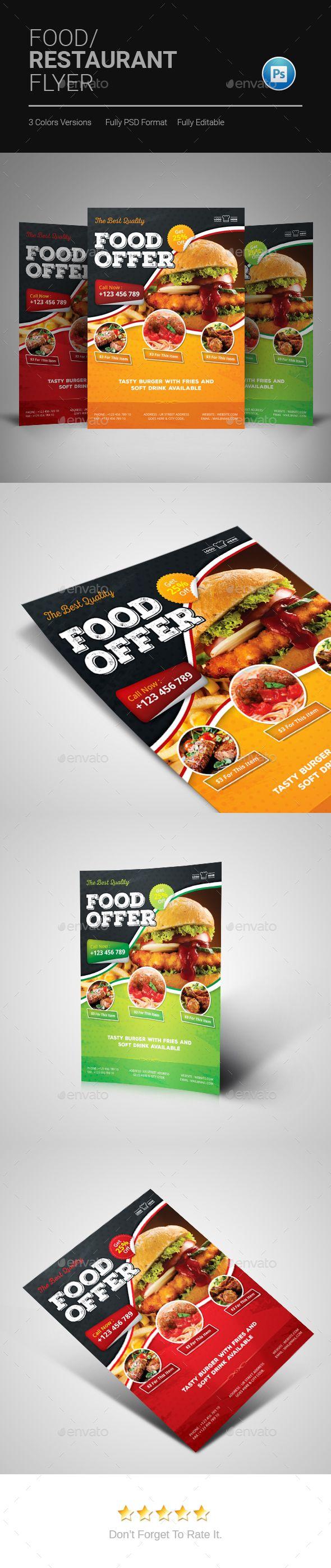 Food Flyer | Envato Test | Pinterest | Elementos y Restaurante