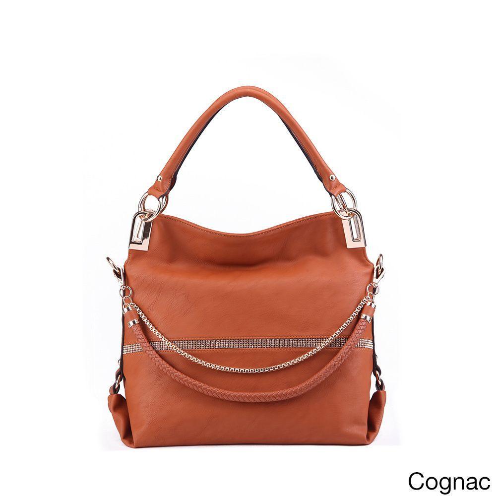 MKF Collection Twister Handbag with Removable Shoulder Strap