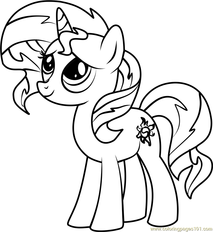 My Little Pony Coloring Pages Sunset Shimmer Coloring Pages Ideas