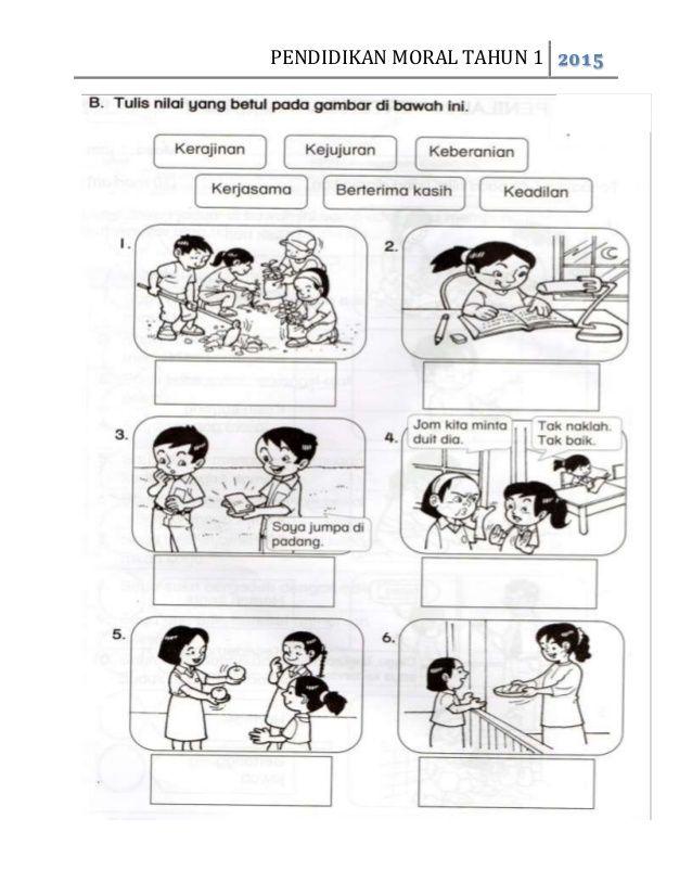 Pendidikan Moral Tahun 1 2015 Morals Education Comics