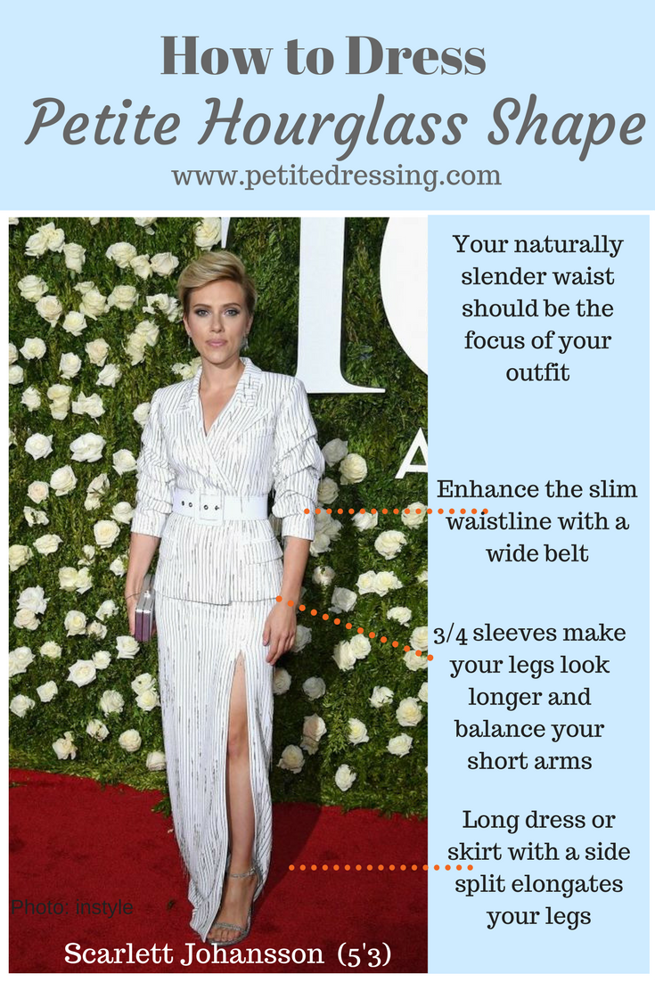 7c8dc8f6bd13d How to dress petite body shape if you have hourglass figure