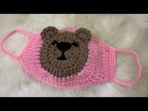 DIY Crochet bear mascarilla Fácil de usar, tejido simple, bueno para la venta Ep.4