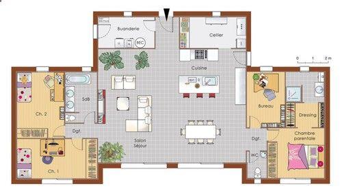 Container House - Plan habillé Rez-de-chaussée - maison - Maison - plan de maison design