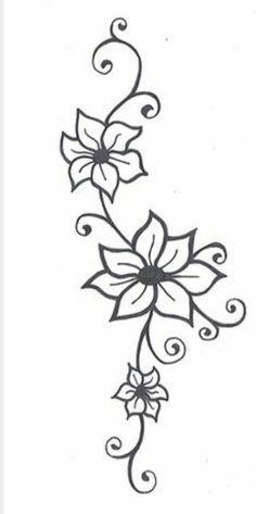 Simple flower tattoo/h...